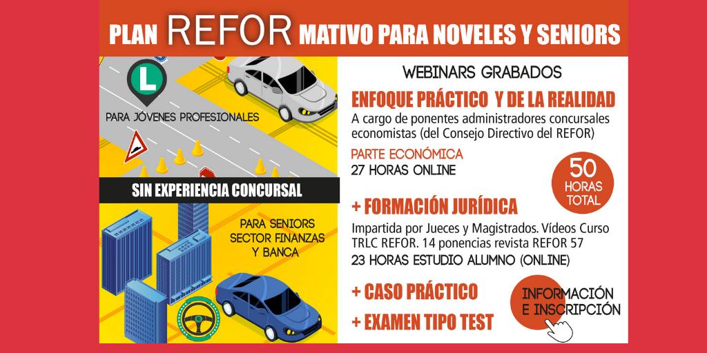 Nuevo webinar REFOR LA CALIFICACIÓN DE LOS CRÉDITOS. CUESTIONES CONTROVERTIDAS (1)
